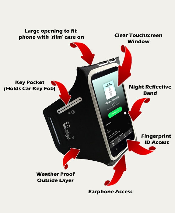 Endurance iPhone 8 Armband Features